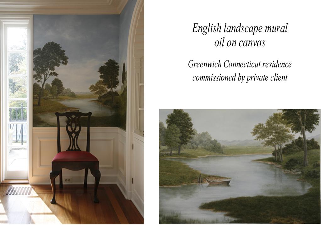 English landscape mural_wpl
